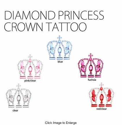 Diamond Princess Crown Tattoo