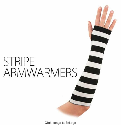 Knit Armwarmers in Stripe