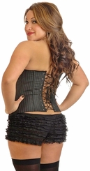 Plus Size 'Board Room Babe' Pinstripe Corset