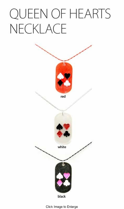 Queen of Hearts Dog Tag Necklace