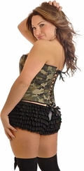 Plus Size 'Camo Queen' Burlesque Corset