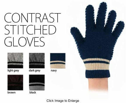 Contrast Stitched Gloves