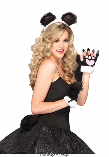 Costumes-3-Piece Panda Kit with Headband, Tail and Paws