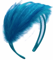 Blue Feather Fascinator Headband
