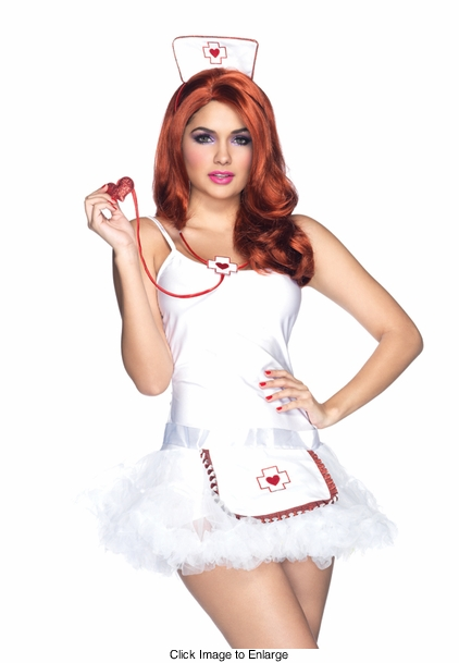 Costumes-3-Piece Nurse Kit with Stethoscope, Apron and Hat