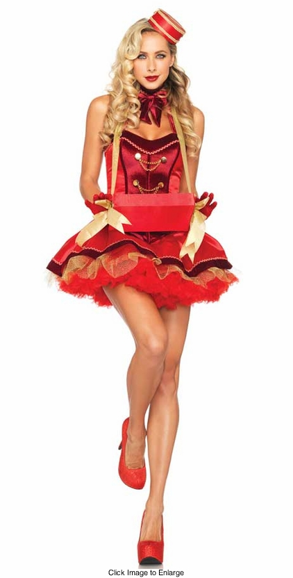 Deluxe 5-Piece Vintage Cigarette Girl Costume