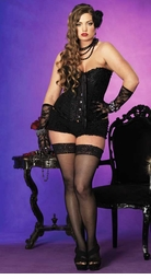 Plus Size Sasha Corset in Dreamy Scroll Brocade
