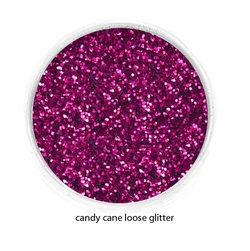 Candy Cane Red Color of Luxe Glitter Powder for Eyeliner / Eye Makeup