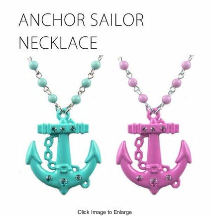 Sailor Anchor Necklace