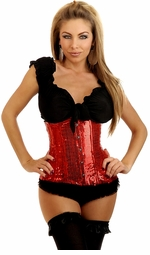Red Sequin Waist Cincher
