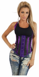 Black and Purple Waist Cincher