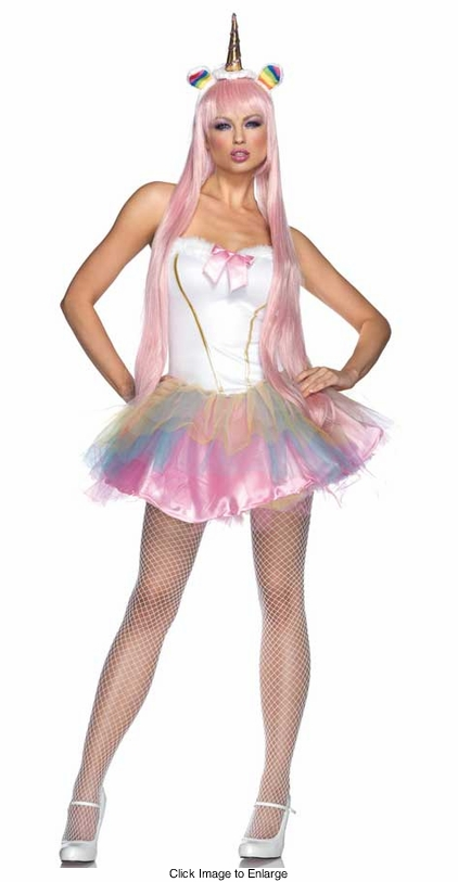 3-Piece Light-Up Fantasy Unicorn Costume