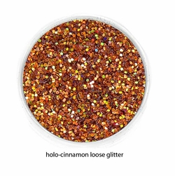 Holo-Cinnamon Color of Luxe Glitter Powder for Eyeliner and Eye Makeup