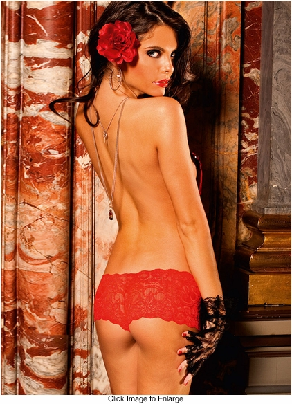 Red Lace Boyshorts