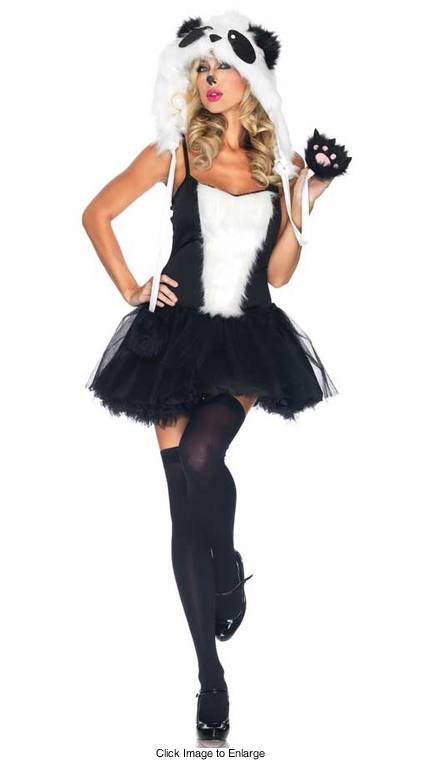 Faux Fur Playful Panda Costume