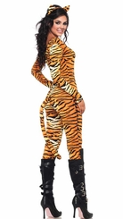 Tigress Catsuit Costume with Tail and Ears