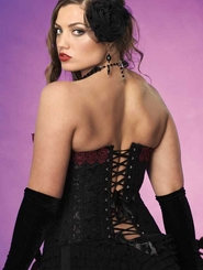 Plus Size Luxe Crystal Corset with Venice Lace