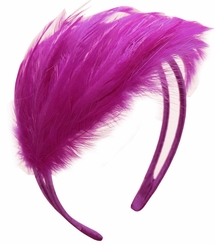 Purple Feather Fascinator Headband