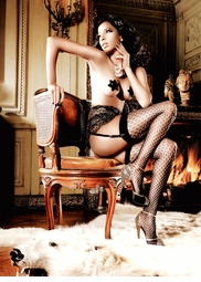 Fishnet and Lace Stockings