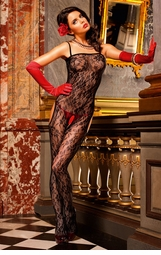 Floral Lace Suspender Bodystocking