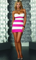 Pink and White Stipe Dress