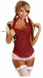 Red Plaid Corset