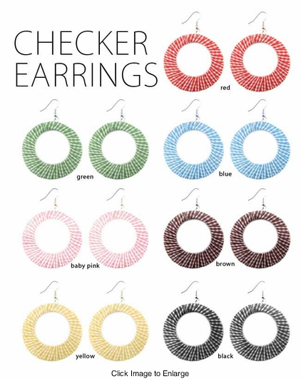 Checker Circle Earrings