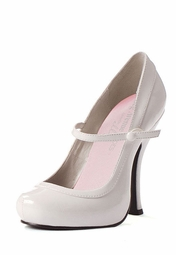 "4"" White Pumps with Straps"