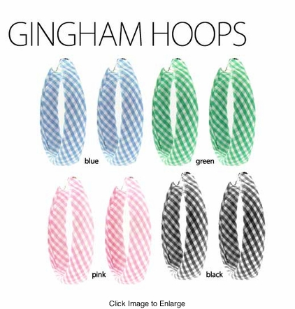 Gingham Checker Hoops Earrings