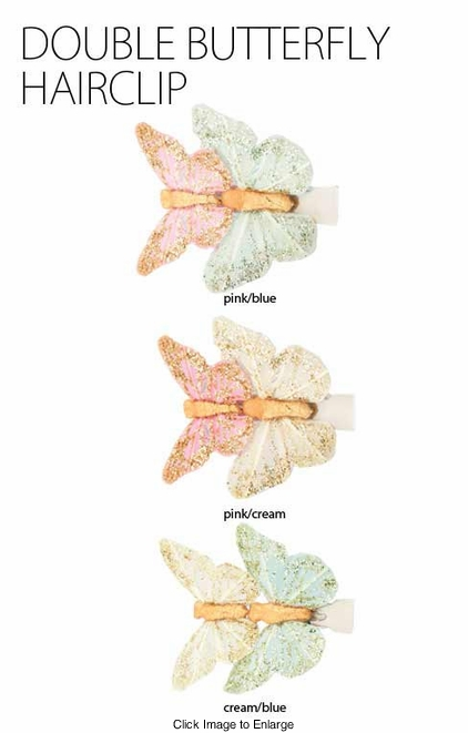 Double Mini Butterfly Hair Clips