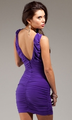 Fox Shirred Little Purple (or Black) Dress