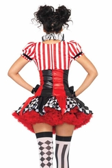 3-Piece Harlequin Clown Costume