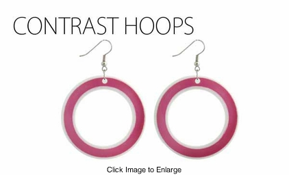 Contrast Groovy Earrings