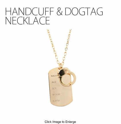 Handcuff and Dog Tag Necklace