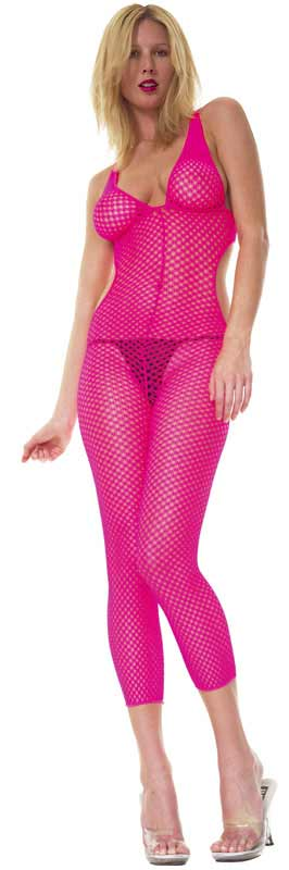 Crochet Footless Bodystocking with Open Sides