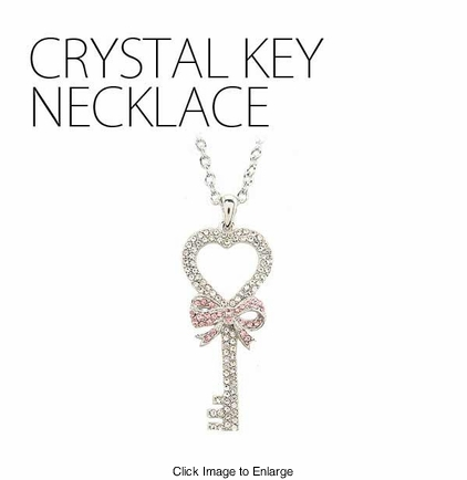 Crystal Key Necklace