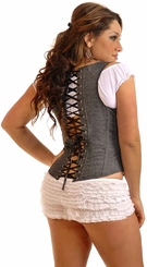 Plus Size Gunmetal 'Denim Dream' Underbust Corset