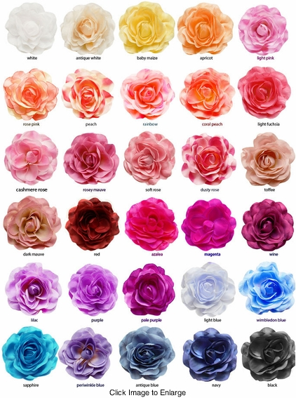 "Large 4.5"" Wide Flower Hair Clip (available in 30 colors)"