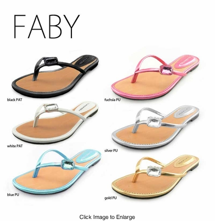 Sleek Flip Flops with Jeweled Strap