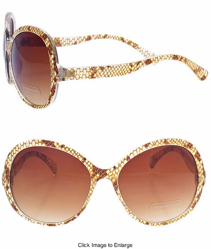 Snake Print Fashion Sunglasses