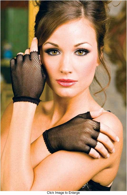 Fingerless Fishnet Gloves