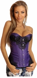 Purple Lace and Satin Corset Top