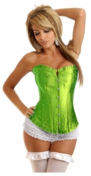 Lime Strapless Sparkle Corset