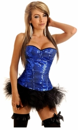 Sequin Underwire Zipper Corset & Pettiskirt