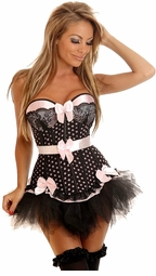 Pin-Up Polka Dot Underwire Corset & Pettiskirt