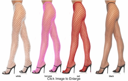 Spandex Medium Net Fishnet Pantyhose