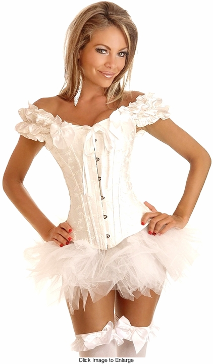 Embroidered Peasant Top Corset & Pettiskirt