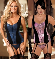 Going Out or Staying In Corset with Spandex Panels