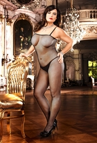 Fishnet Bodystocking with Spaghetti Straps