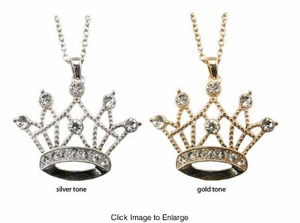 "2.5"" Queen Crown Necklace"